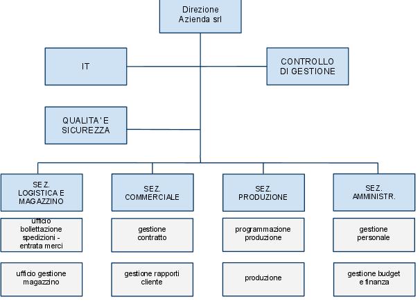 modelli organigramma da