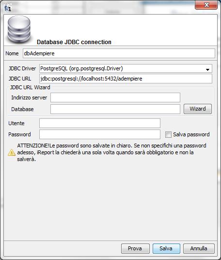 parametri jdbc postgresql